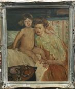 G PICARD (20th century) French, Mother and Child, oil on panel, signed and dated 1921, framed.