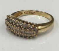 A 9 ct gold diamond ring (2.