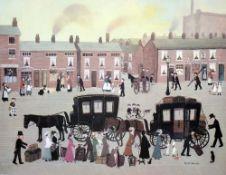HELEN BRADLEY (1900-1979) British, Going Home, Print,