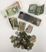 A coin and note collection