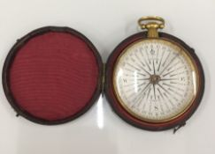 A 19th century cased compass