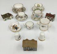 A small quantity of miniature porcelain items,