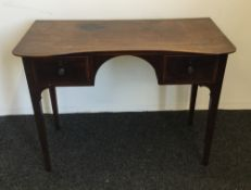 A 19th century mahogany two drawer side table