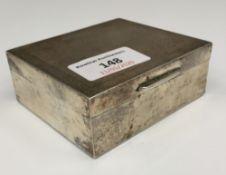 A silver cigarette box (5.
