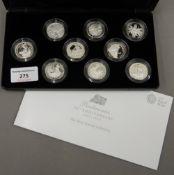 The Royal Mint Britannia 25th Anniversary silver coin set