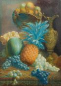 DANIEL WOOD (19th century) British, Floral Still Life; and Still Life With Fruit, watercolours,