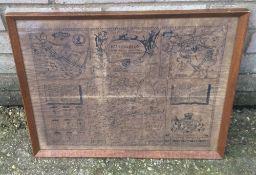 A map of Huntingdon,