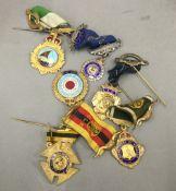 Six Buffalo medals,