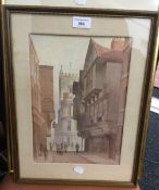 A pair of Victorian watercolours, Rack Hay Back Street and Marylebone High Street,