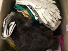 A large quantity of leather gloves, furs, etc.