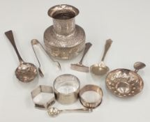 A quantity of silver and plated items,