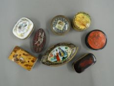 A collection of Georgian and later snuff boxes, etc.