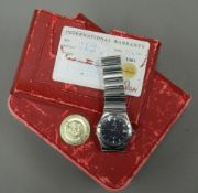 A boxed Omega Constellation wristwatch
