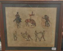 H ALKEN, Symptoms, four prints, framed and glazed. 27 x 22 cm.