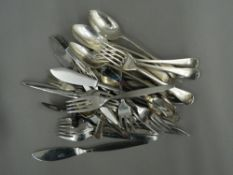 A quantity of silver and silver plated cutlery (approximately 14 troy ounces of silver)