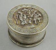 A Chinese round box