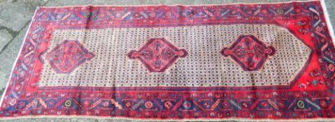 A Hamadan carpet 270 x 108