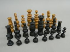 A quantity of chess pieces