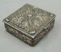 A Continental white metal box