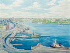 HANS-ERIK ERIKSSON (1921-1997) Swedish (AR), Stockholm, oil on canvas, signed, framed. 124 x 95 cm.