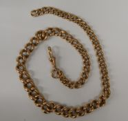 A 9 ct gold watch chain (45.