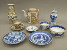 A quantity of 19th century Chinese porcelain