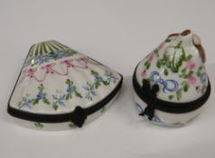 Two Limoges boxes