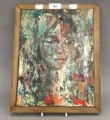 JOHN UHT, Portrait of a Girl, oil on canvas, framed. 23 x 30 cm.