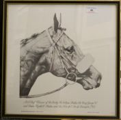 CHRIS JENNINGS, Horse Studies (including Mill Reef, Brigadier Gerard, Golden Miller, Sir Ivor,