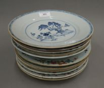 A quantity of 18th and 19th century Chinese porcelain plates