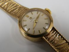 A 9 ct gold cased ladies Omega wristwatch (19.