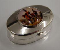 A silver pillbox