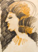 After PABLO RUIZ PICASSO (1881-1973) Spanish Portrait Bust of a Lady Pastel on watermarked Guarro
