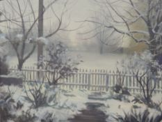 ANTHONY DAY (20th/21st century) British, Home in Winter II, gouache, signed, framed and glazed.