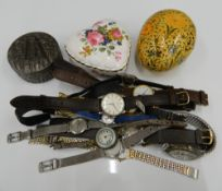 A quantity of various wristwatches, etc.