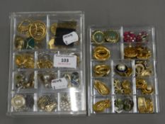 A large quantity of various earrings,