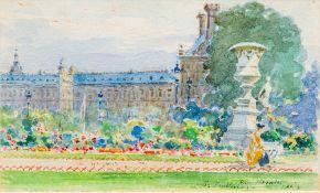 MANUEL BERNARDINO RUIZ SANCHEZ MORALES (1853-1922) Spanish, Les Tuileries, Paris,