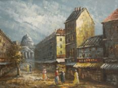 BALIN (19th/20th century) British, St Paul's Cathedral, oil on canvas, signed, framed. 40 x 30 cm.