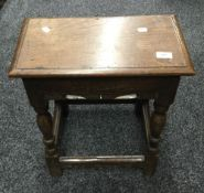 An 18th/19th century oak joint stool