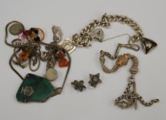 A small quantity of various silver and other jewellery