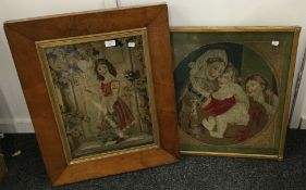 A quantity of framed tapestry pictures