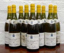 Ten bottles of 1999 Olivier Leflaive Les Referts Puligny Montrachet 1er Cru