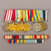 A set of medals awarded to KX85615 L.S.