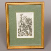 After ALBRECHT DURER (1471-1528) German Jesus Descending from the Cross A 19th century print,