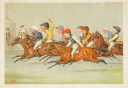 After LIBORIO ''LIB'' PROSPERI (1854-1928) Anglo-Italian The Winning Post Vanity Fair lithograph,