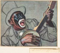 VLADIMIR TRETCHIKOFF (1913-2006) Russian Coon Print, signed in pen to margin, titled,