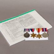 A set of WWII medals awarded to Acting Sergeant Charles Henry Payne,