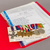 A set of WWII medals awarded to Major G Thompson of The Royal Tank Regiment Including: the Military