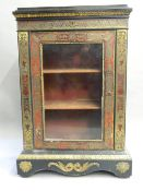 A 19th century Boulle pier cabinet The rectangular top above a frieze decorated with Vitruvian