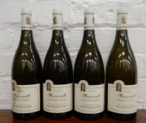 Four bottles of 1999 Jean-Philippe Fichet Meursault